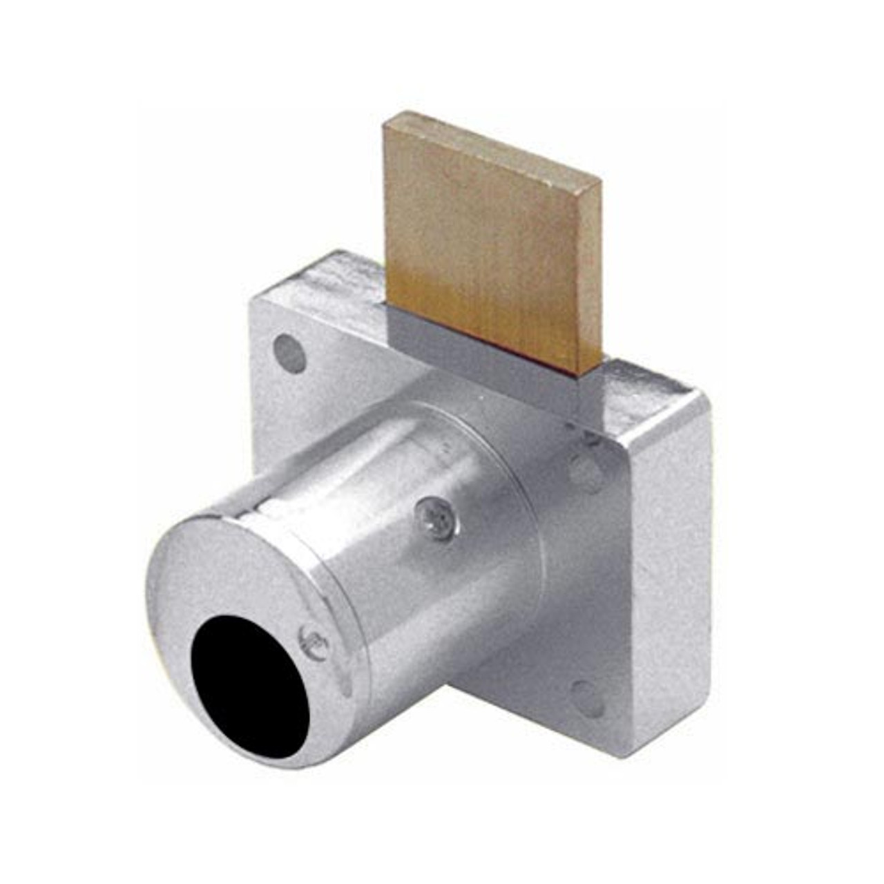 Olympus 800LCM-26D Cabinet Drawer Deadbolt Less Cylinder Medeco Lock in Satin Chrome