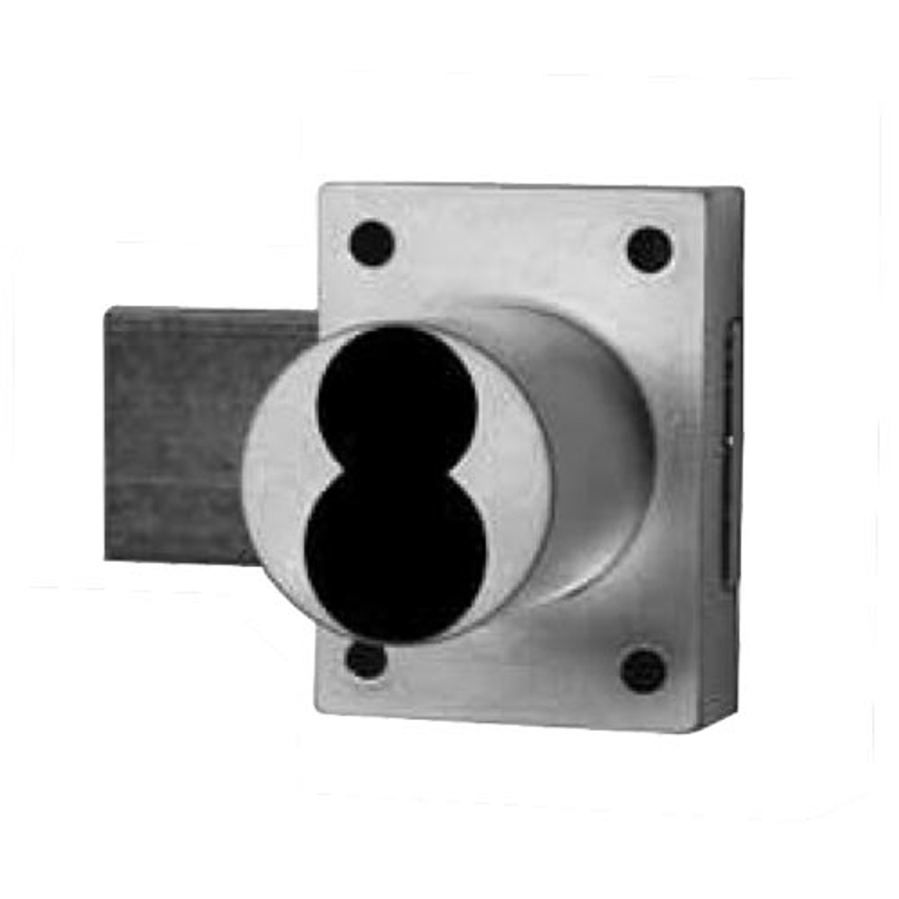 Olympus 777ICP-26D Cabinet Deadbolt Lock body Schlage Prepped for FSIC in Satin Chrome
