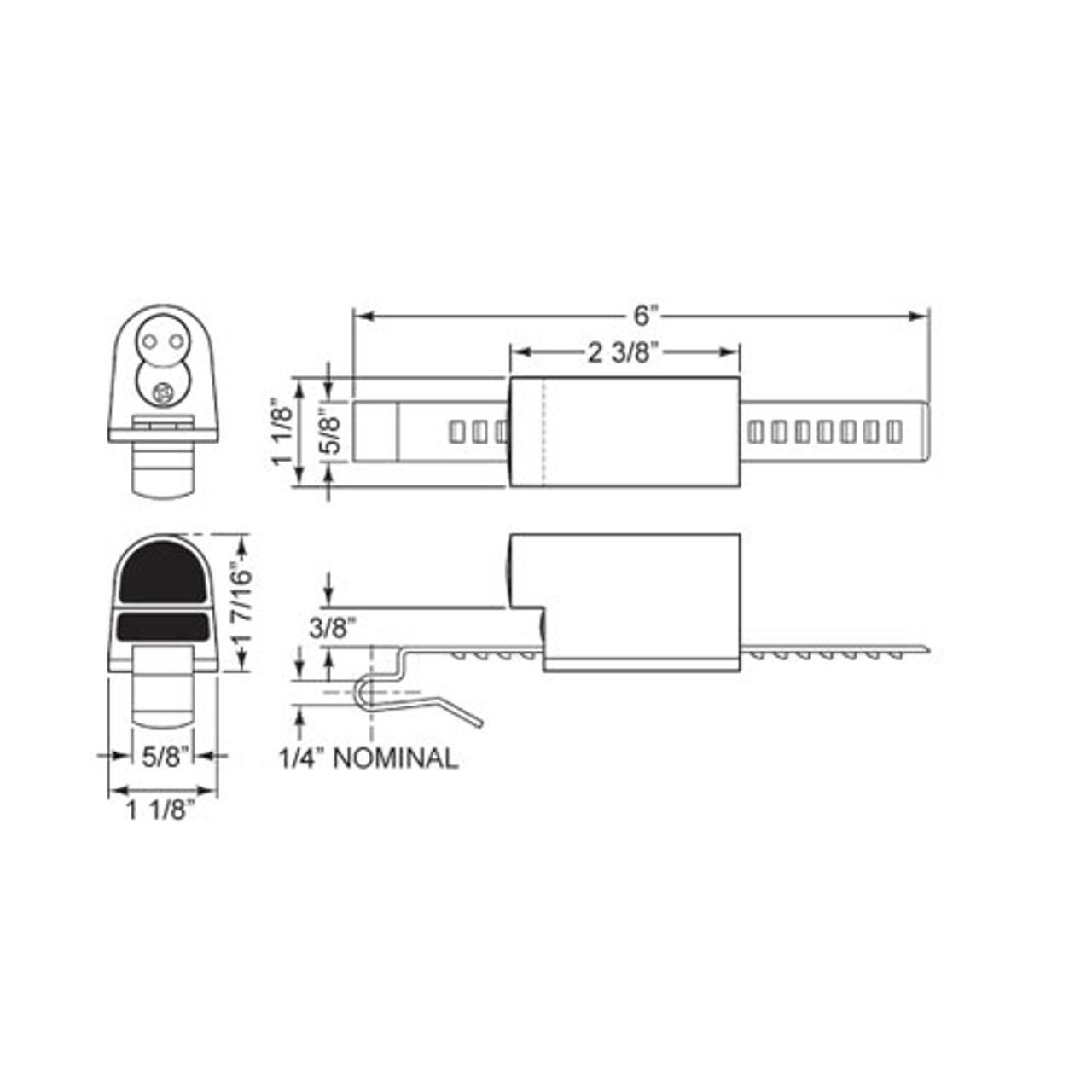 Olympus 729R-26D Showcase/Ratchet Lock for Sliding Doors in Satin Chrome