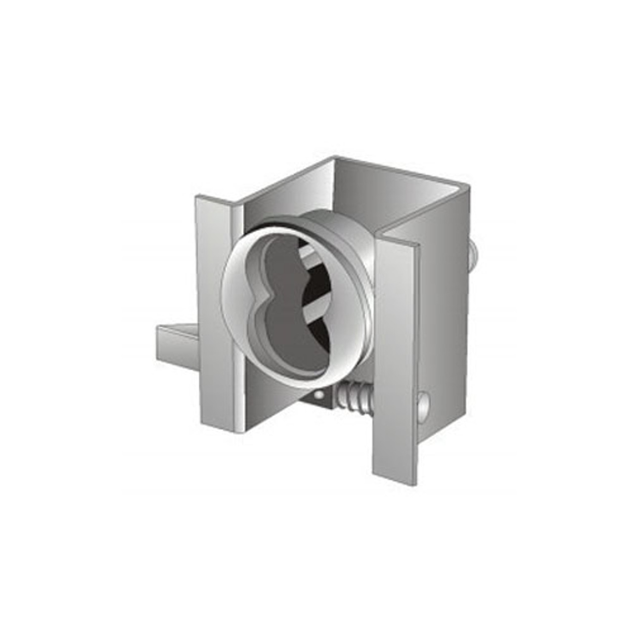 Olympus 728MBL-26D Cabinet Locks in Satin Chrome Finish
