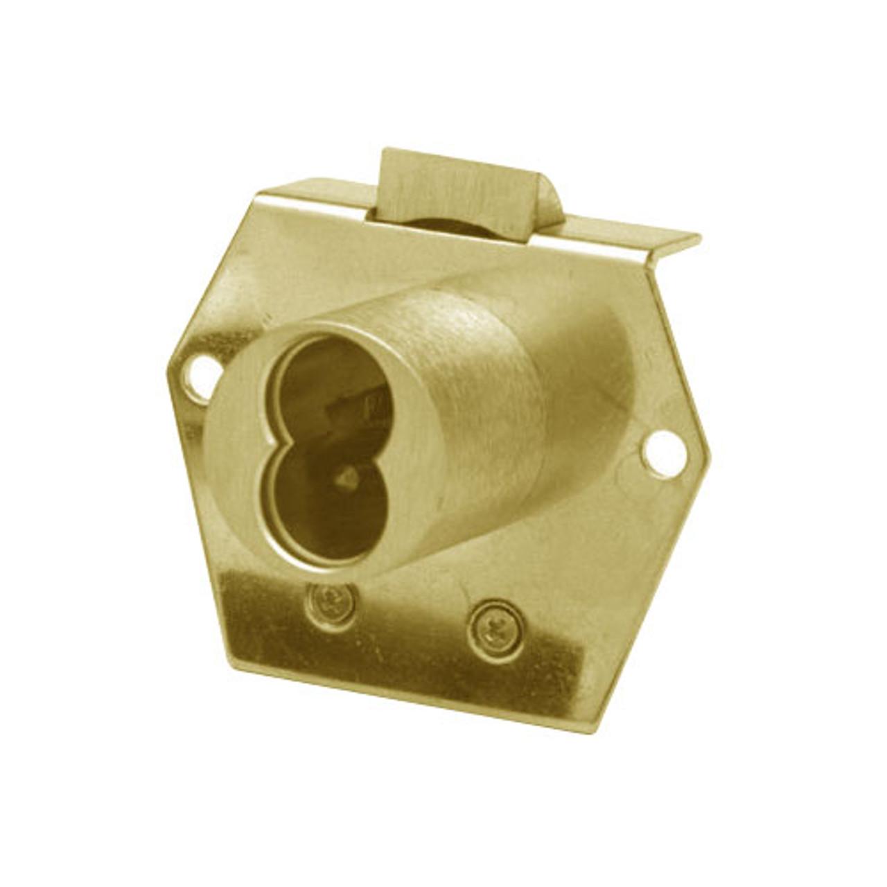 Olympus 725RL-DW-VH-US3 Cabinet Locks in Bright Brass Finish