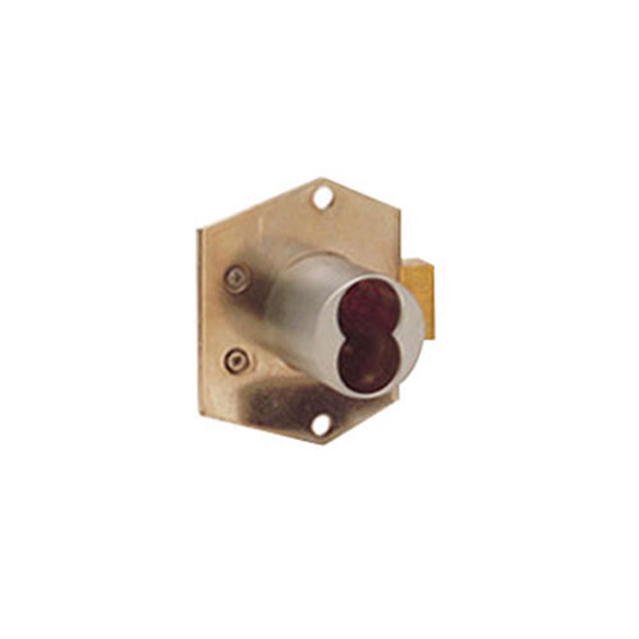 Olympus 725RD-DW-VH-US4 Rim Mount Deadbolt Cabinet Locks in Satin Brass Finish