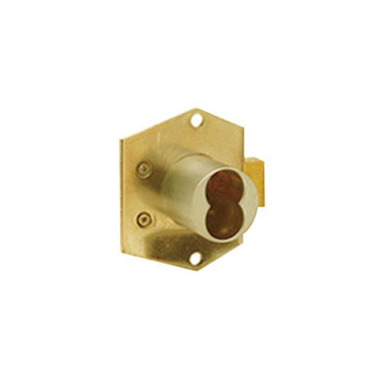Olympus 725RD-DW-VH-US3 Rim Mount Deadbolt Cabinet Locks in Bright Brass Finish