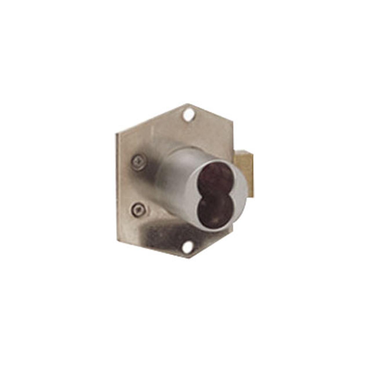 Olympus 725RD-DR-RH-26D Rim Mount Deadbolt Cabinet Locks in Satin Chrome Finish