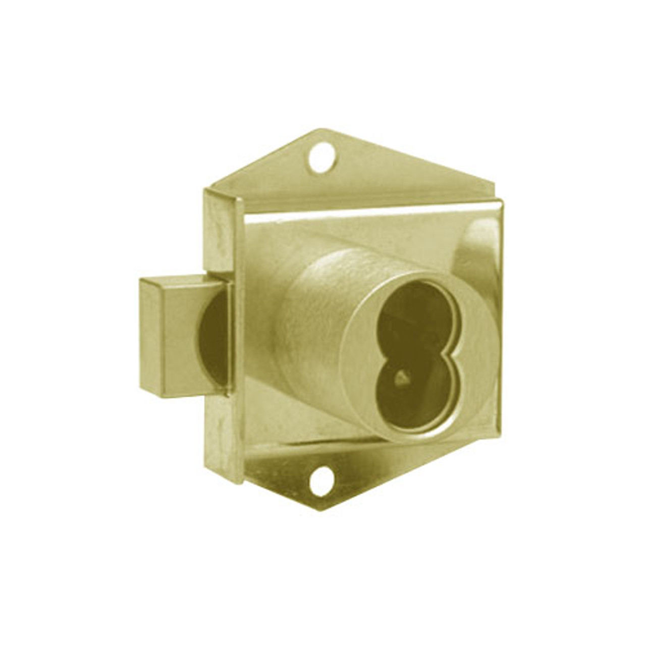 Olympus 725MD-DW-VH-US4 Cabinet Locks in Satin Brass Finish