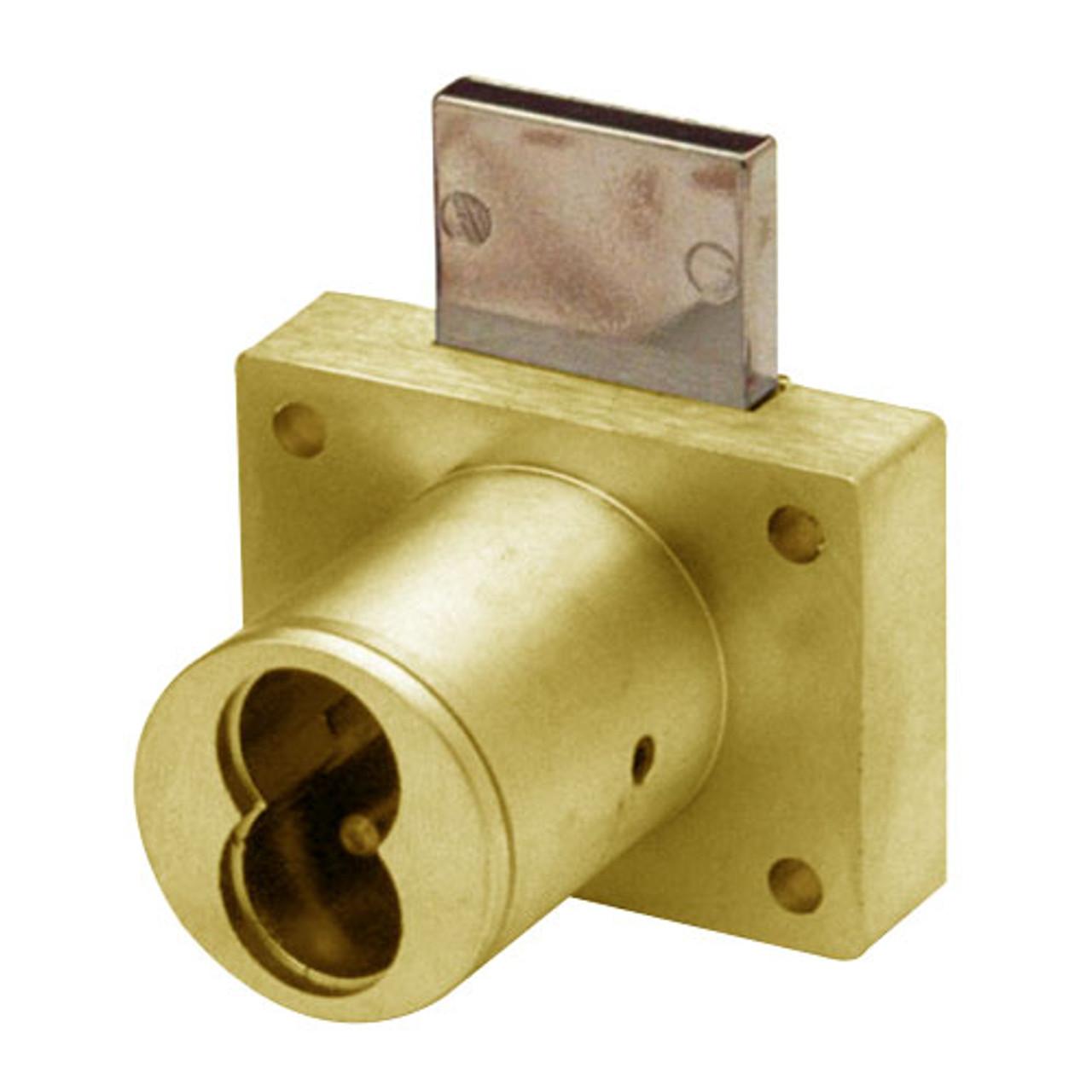 Olympus 721DW-US3 Cabinet Drawer Lock in Bright Brass Finish