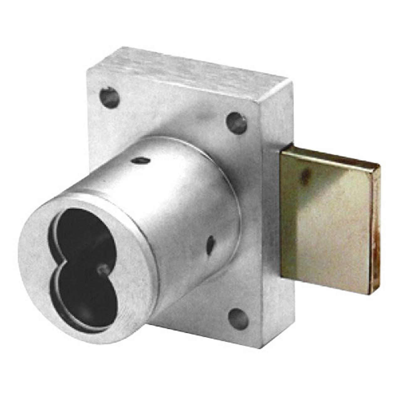 Olympus 721DR-26D Cabinet Door Lock in Satin Chrome Finish