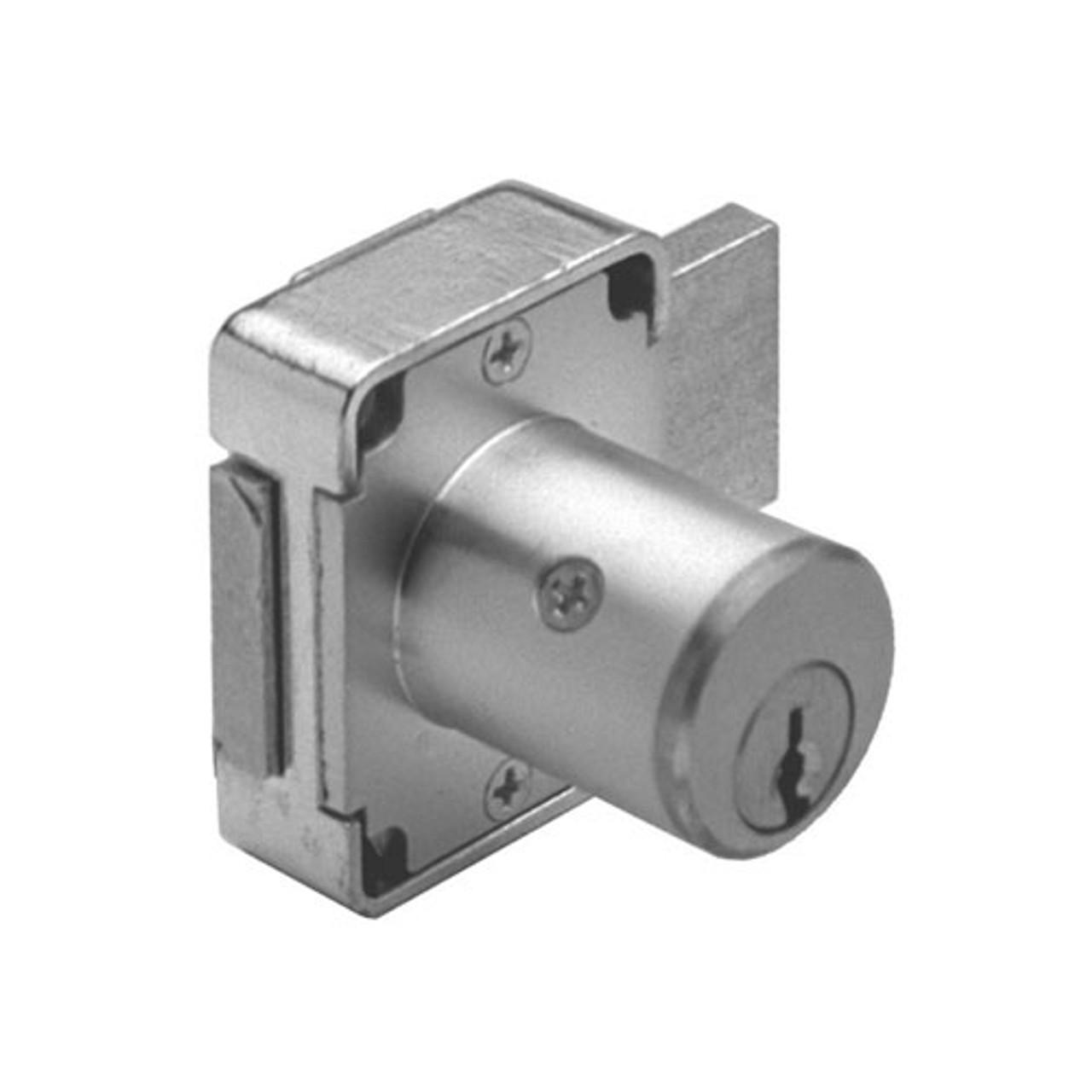 Olympus 100DR-KA107-26D-1-3/8 Deadbolt Locks in Satin Chrome Finish
