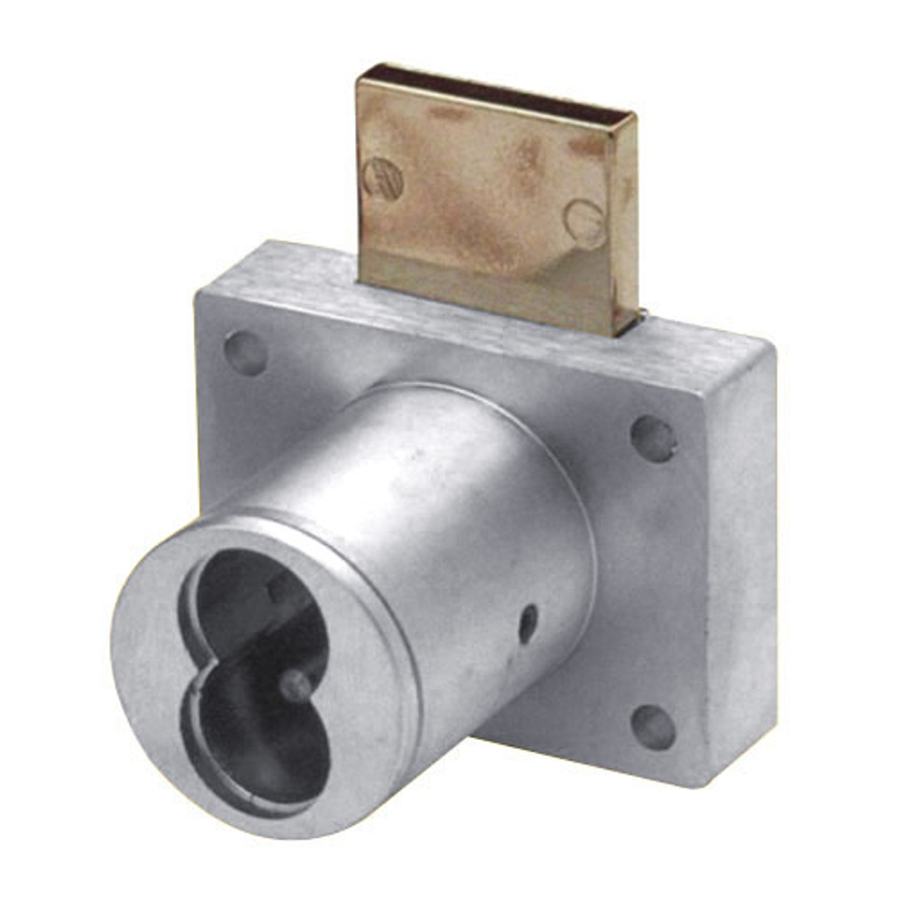 """Olympus 721DW-26D Cabinet Drawer Lock for Removable Core 1-1/4"""" Barrel in Satin Chrome"""