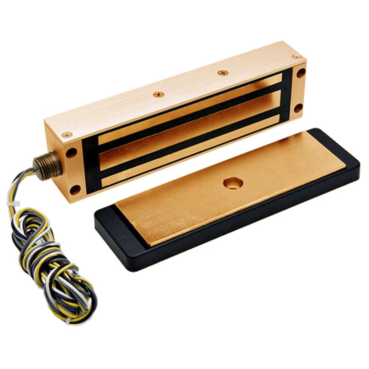 2013-US10-RWE DynaLock 2013 Series 1200 LB Holding Force Single Electromagnetic Gate Lock with Rear Wire Exit in Satin Bronze
