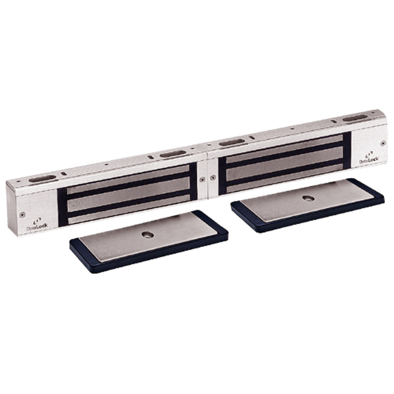 3002TJ32-US28-HSM2 DynaLock 3000 Series 1500 LBs Double Electromagnetic Lock for Inswing Door with HSM in Satin Aluminum