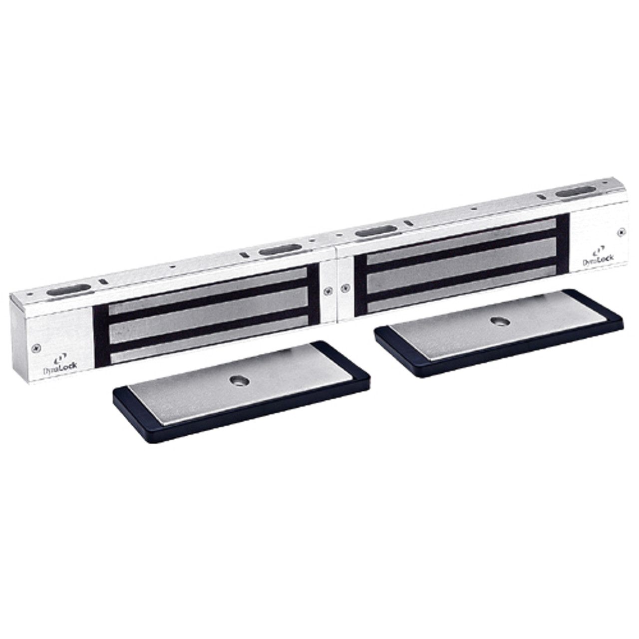 3002TJ32-US26-HSM2 DynaLock 3000 Series 1500 LBs Double Electromagnetic Lock for Inswing Door with HSM in Bright Chrome