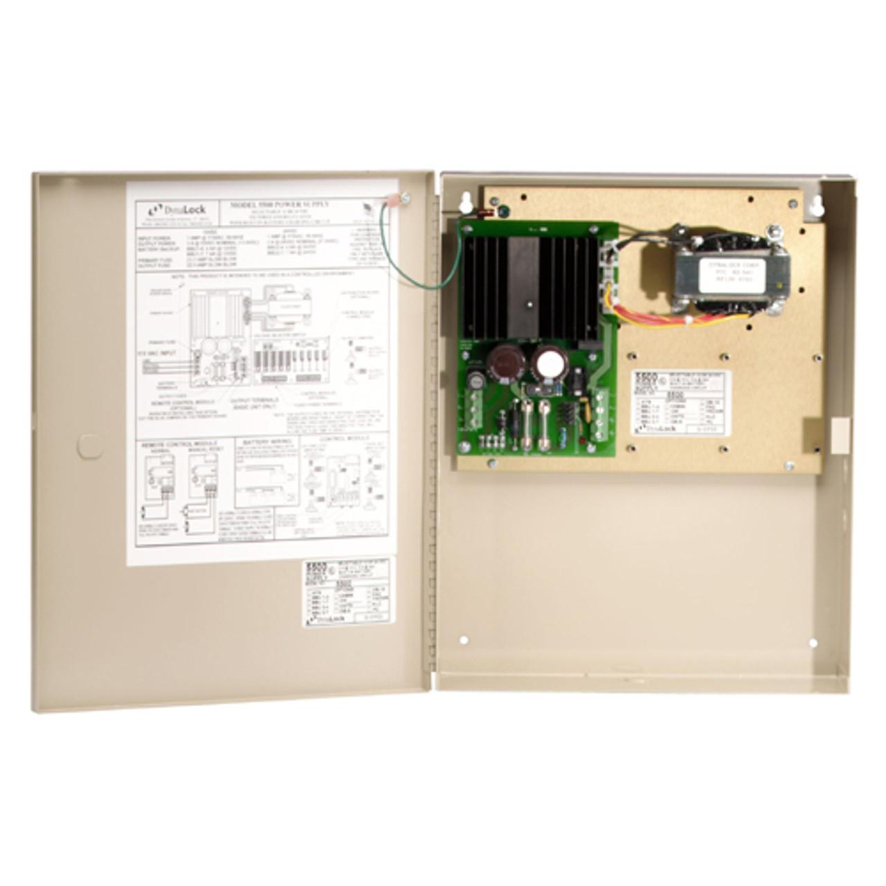 5500-FAC-PC DynaLock Multi Zone Medium Duty Power Supply with Fire Alarm Module and Power cord
