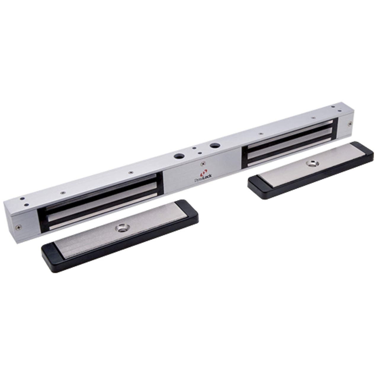 2522-US26-DSM2 DynaLock 2500 Series 650 LB Mini-Mag Double Electromagnetic Lock for Outswing Door with Door Status Switch in Bright Chrome