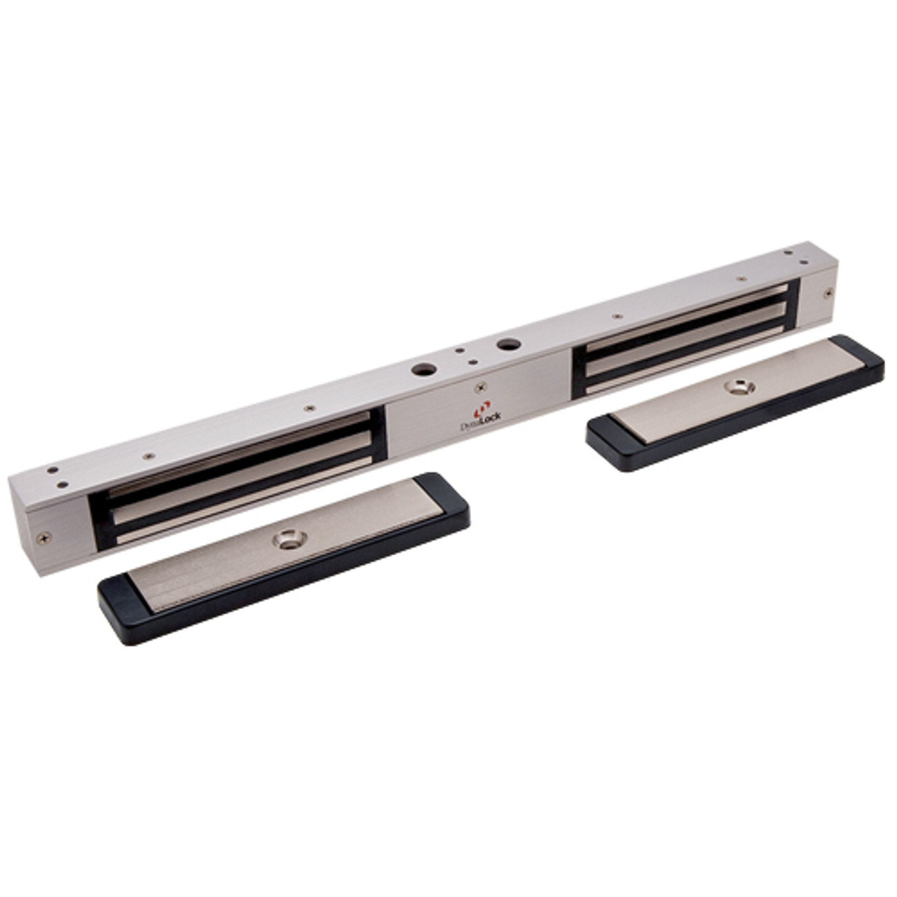 2522-US28-DYN2 DynaLock 2500 Series 650 LB Mini-Mag Double Electromagnetic Lock for Outswing Door with Dynastat Force Sensor in Satin Aluminum