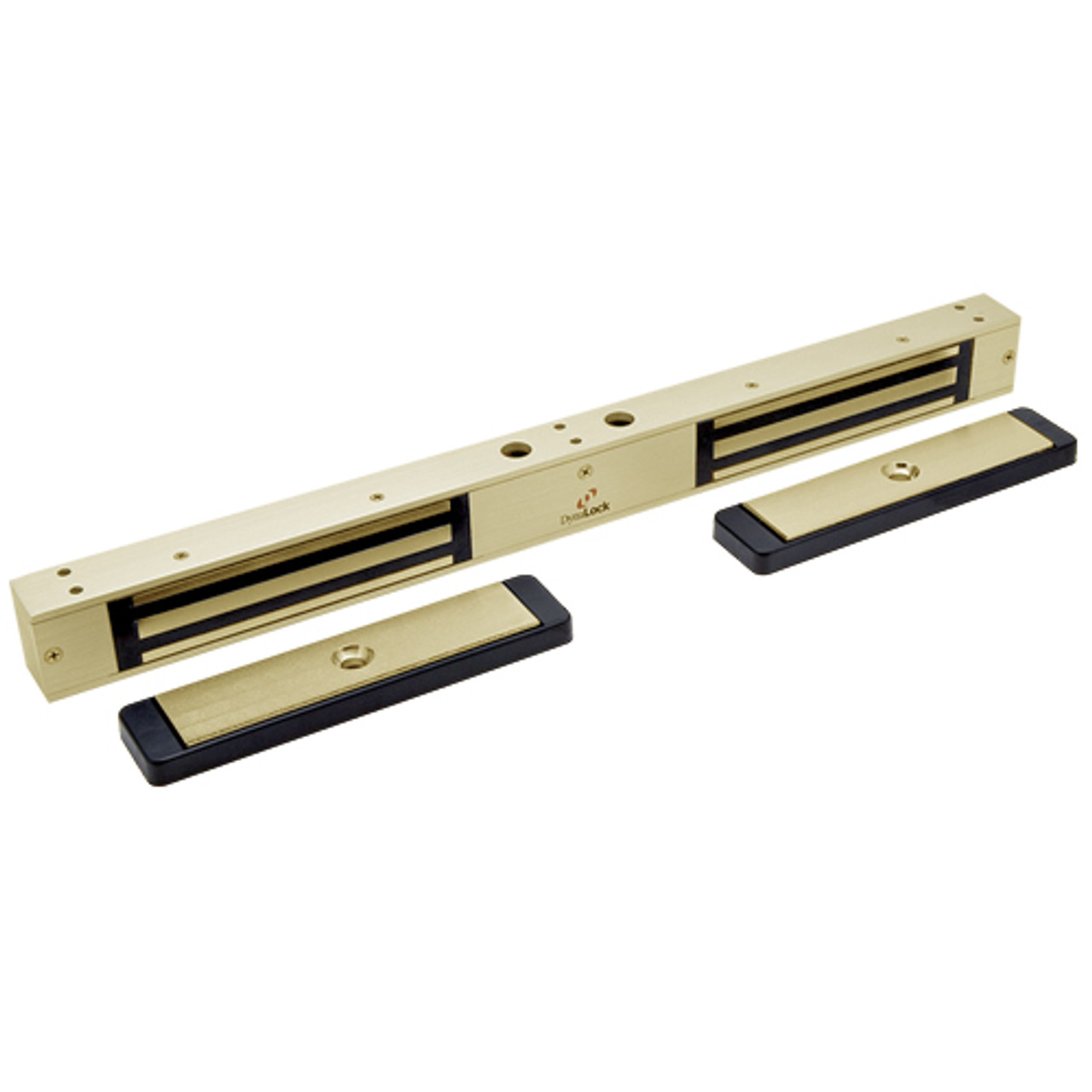 2522-US4-DSM2-DYN2 DynaLock 2500 Series Mini-Mag Double Electro-mag Lock for Outswing Door with Door Status Switch and DYN in Satin Brass