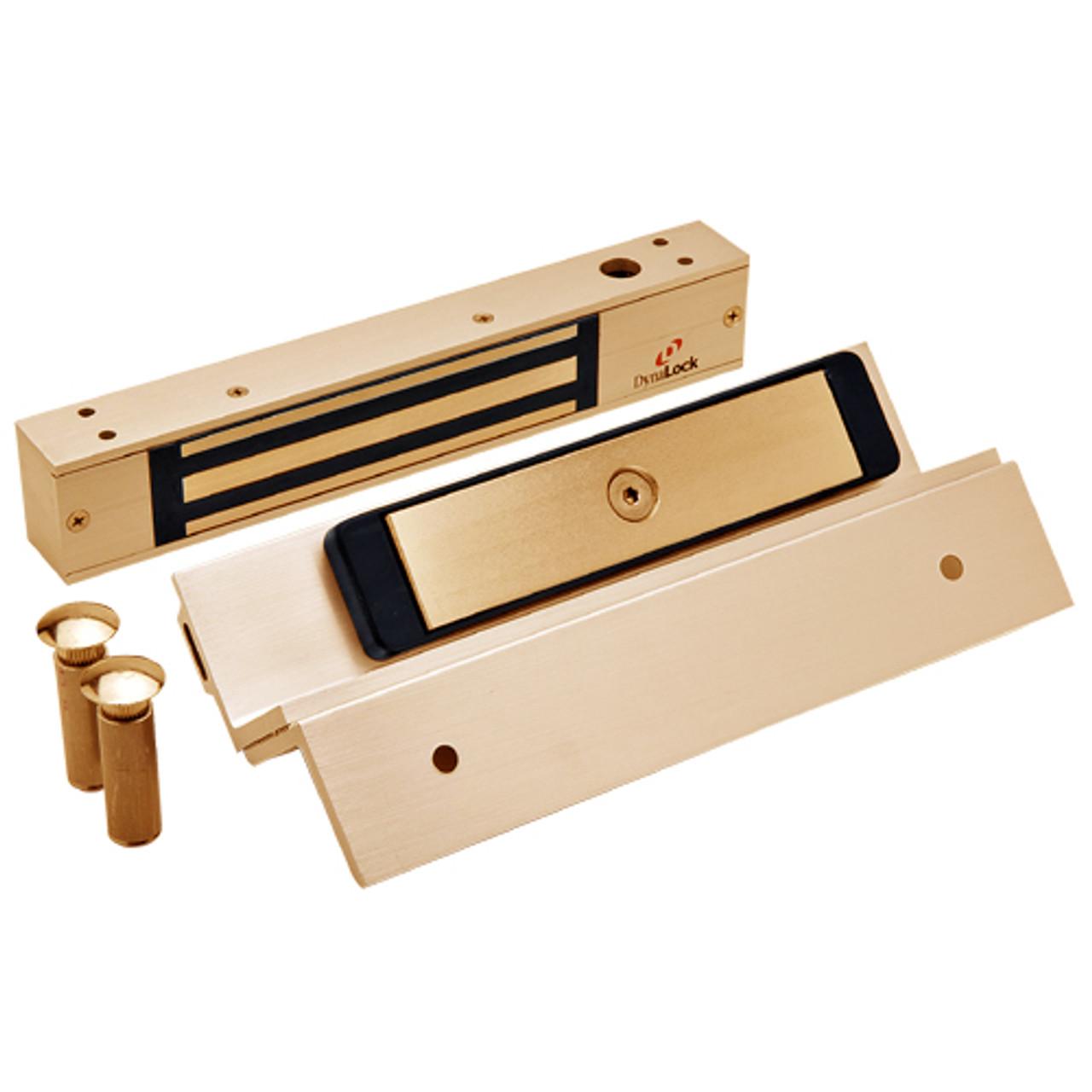 2511TJ-US10-DSM DynaLock 2500 Series 650 LB Mini-Mag Single Electromagnetic Lock for Inswing Door with Door Status Switch in Satin Bronze