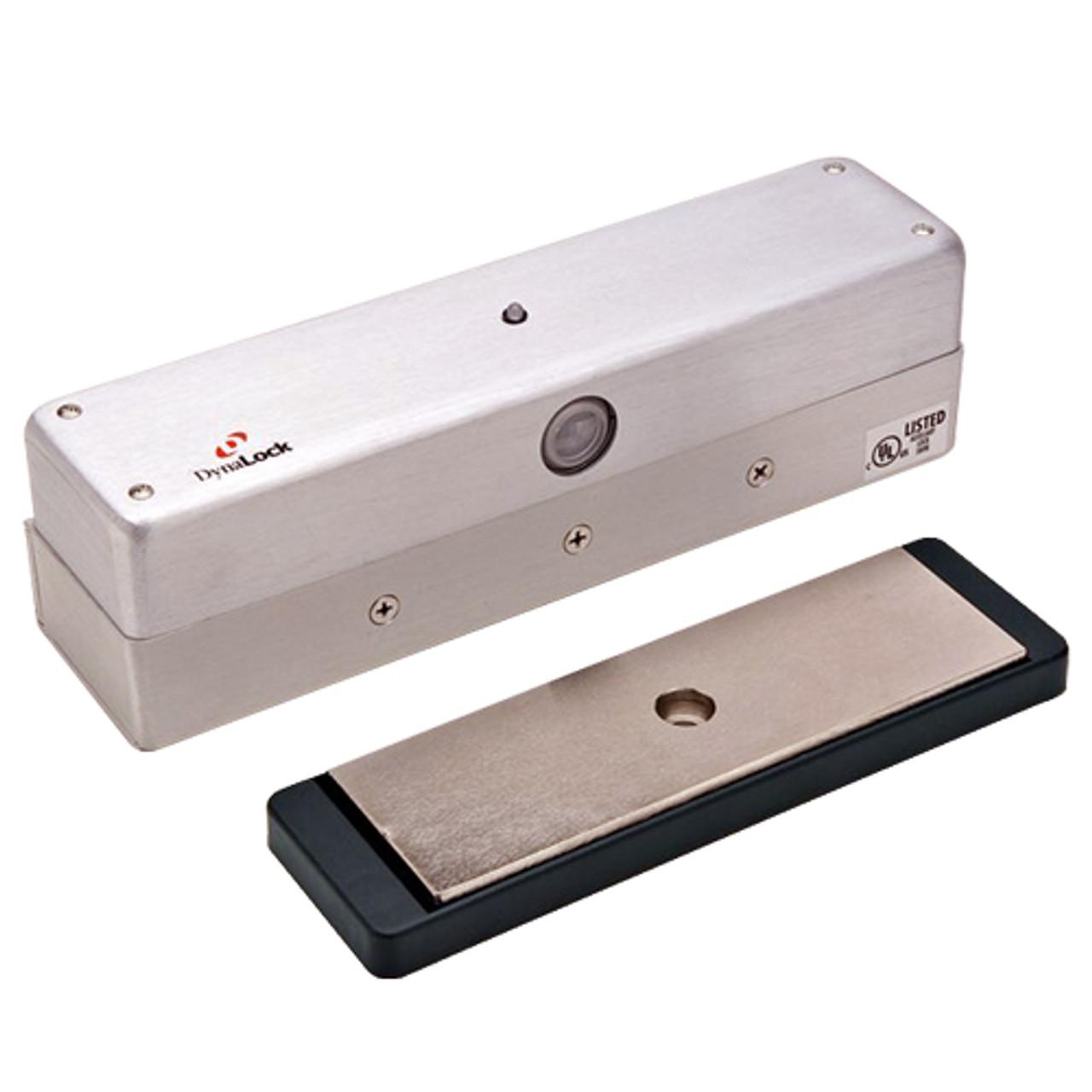 3006-US28 DynaLock 3006 Series 1500 LBs Single Outswing Free Egress Electromagnetic Lock in Satin Aluminum