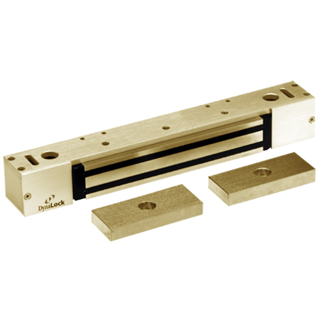 2268-15-US4 DynaLock 2268 Series Single Classic Low Profile Electromagnetic Lock for Pair Outswing Door in Satin Brass