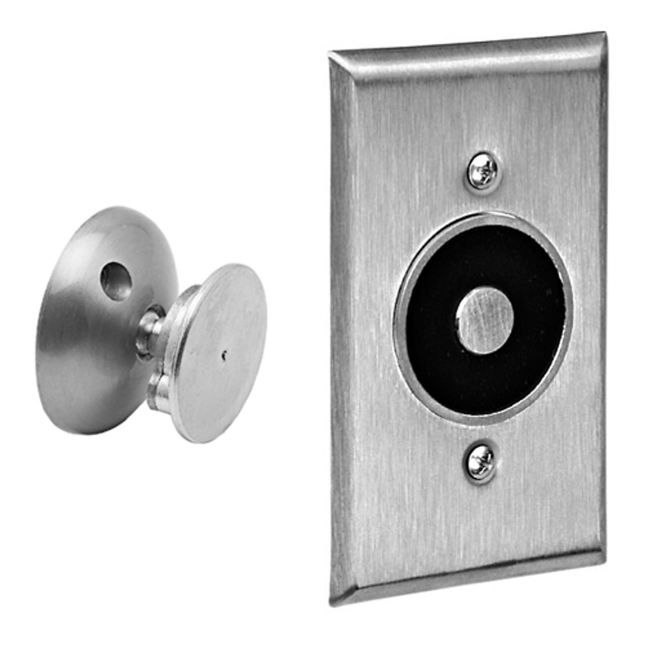 2806-US28 DynaLock 2800 Series Low Profile Wall Mount Electromagnetic Door Holder in Satin Aluminum