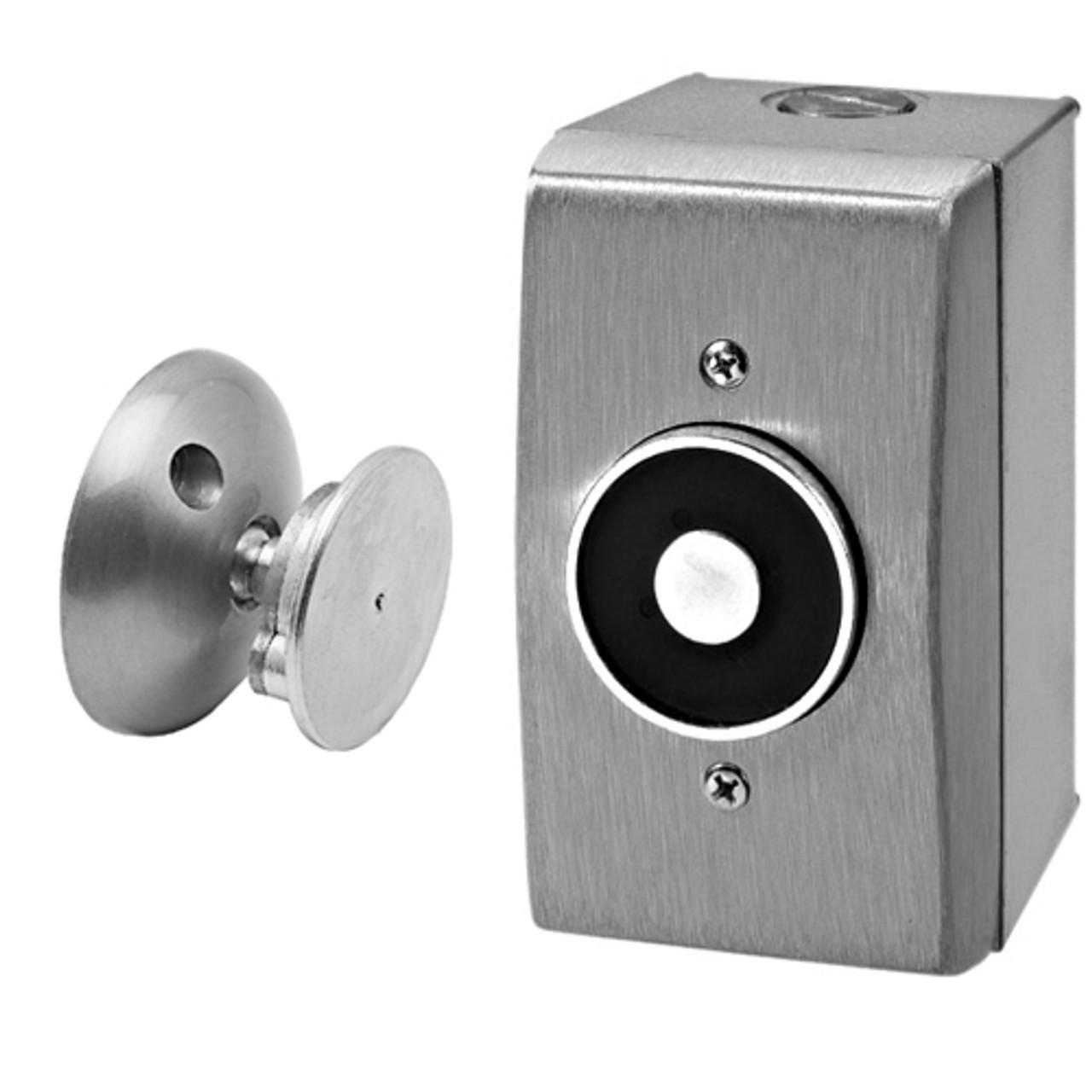 2805-US28 DynaLock 2800 Series Surface Wall Mount Electromagnetic Door Holder in Satin Aluminum