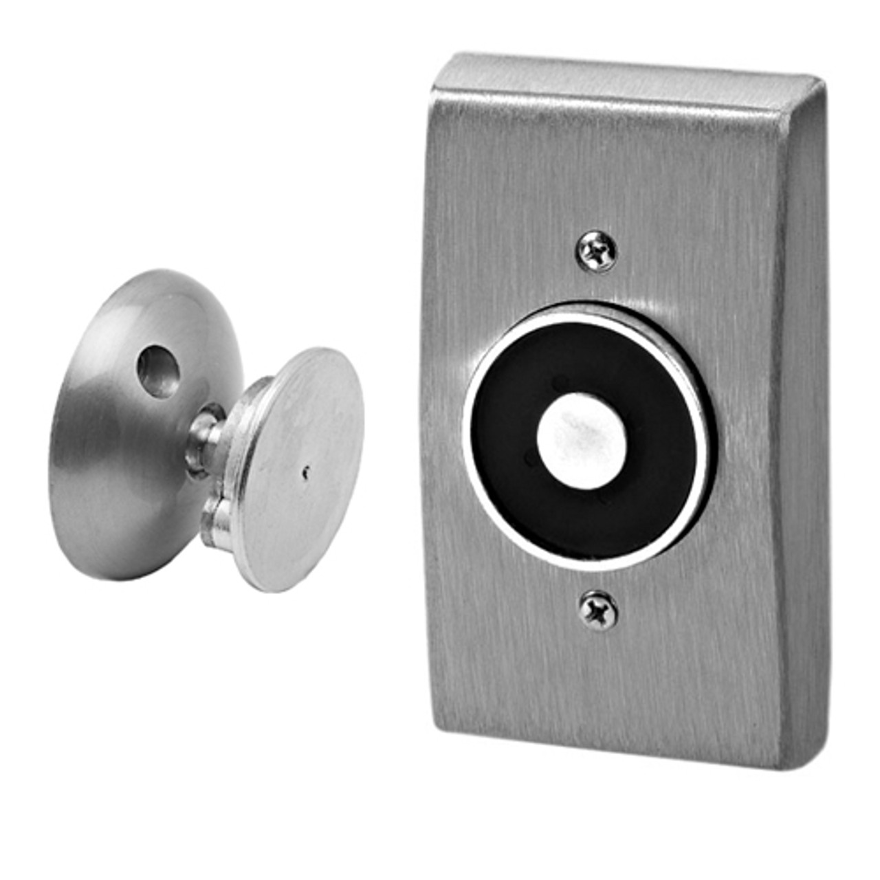 """2803-US28 DynaLock 2800 Series Flush Wall Mount Electromagnetic Door Holder for 1"""" Extended Armature in Satin Aluminum"""