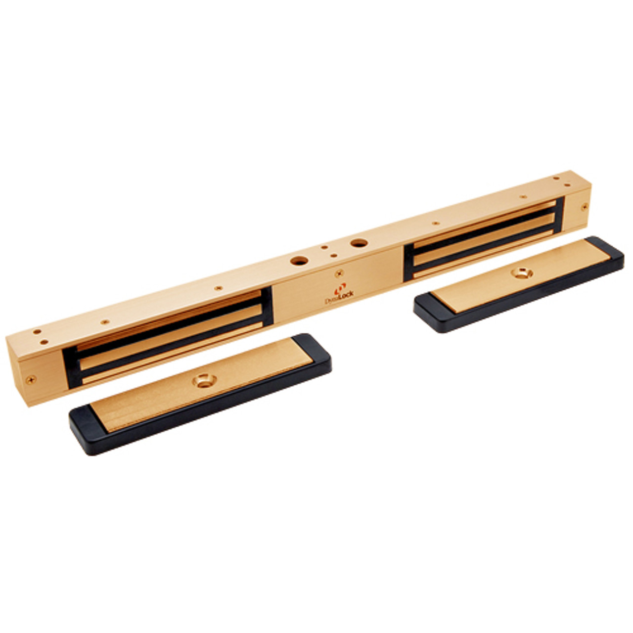 2522-US10 DynaLock 2500 Series 650 LB Mini-Mag Double Electromagnetic Lock for Outswing Door in Satin Bronze