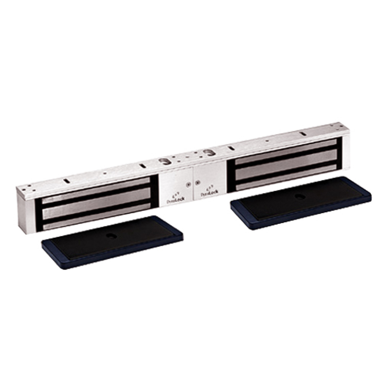 2022-US28-HSM2 DynaLock 2000 Series 1200 LB Holding Force Double Electromagnetic Lock with High Security Monitor in Satin Aluminum