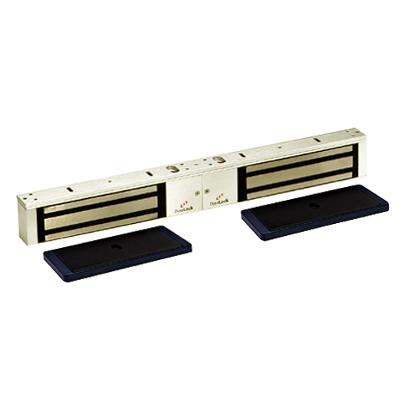 2022-US4-HSM2 DynaLock 2000 Series 1200 LB Holding Force Double Electromagnetic Lock with High Security Monitor in Satin Brass