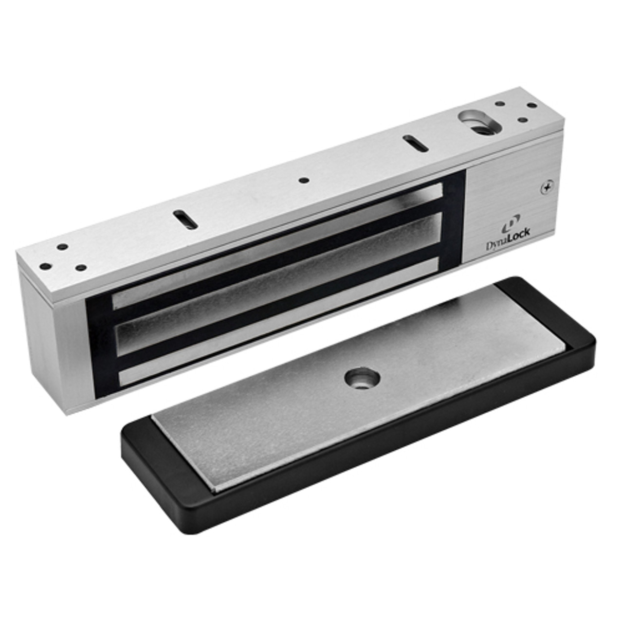 2011-US28-LP DynaLock 2000 Series 1200 LB Holding Force Single Electromagnetic Lock with Low Power Coil Single Lock in Satin Aluminum
