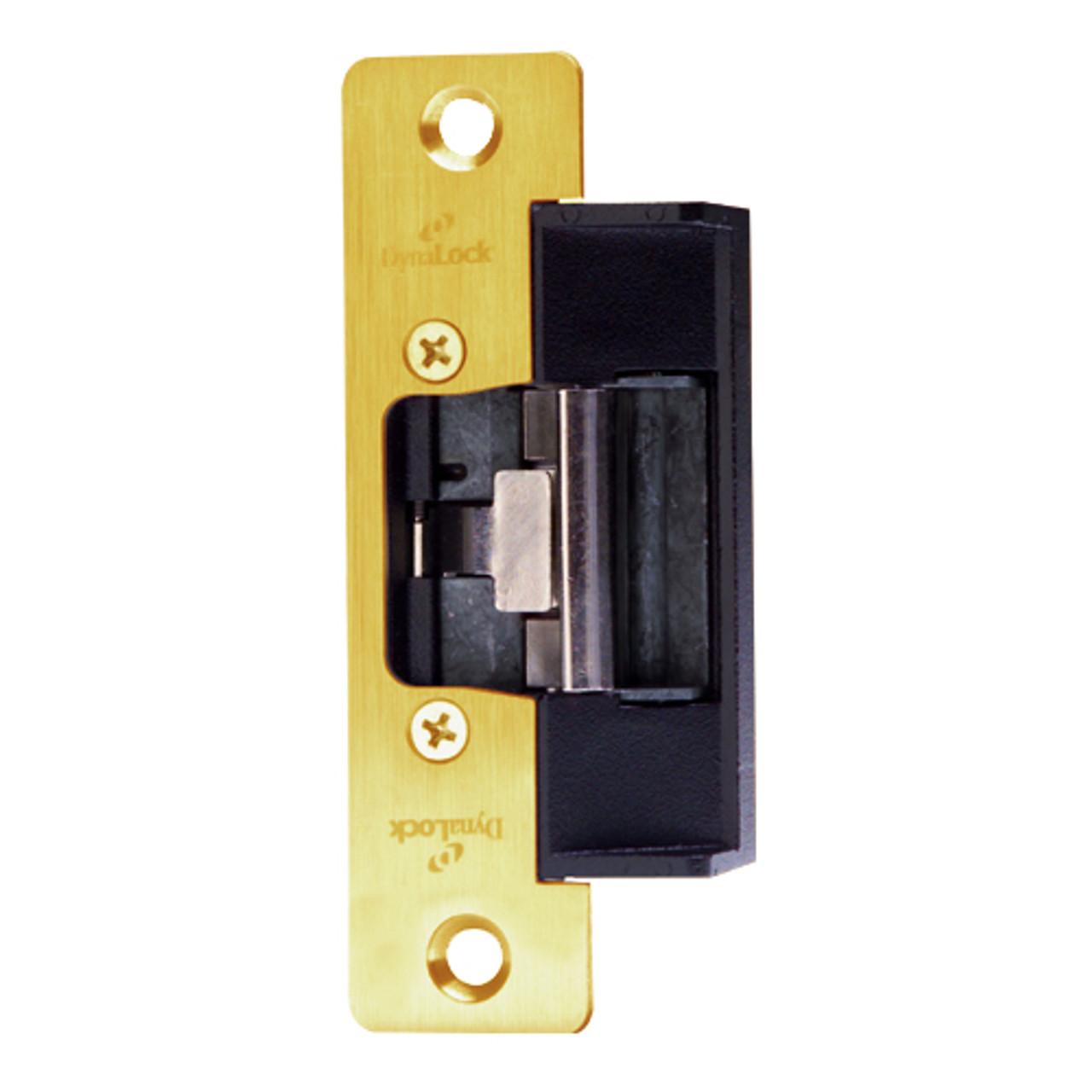 1604S-US3 DynaLock 1600 Series Electric Strike for Standard Profile in Bright Brass