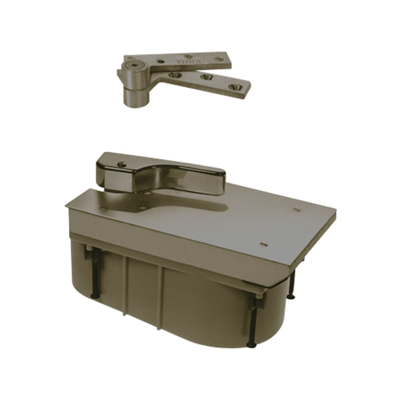 PHQ27-85S-RH-613 Rixson 27 Series Heavy Duty Quick Install Offset Hung Floor Closer in Oil Rubbed Bronze Finish