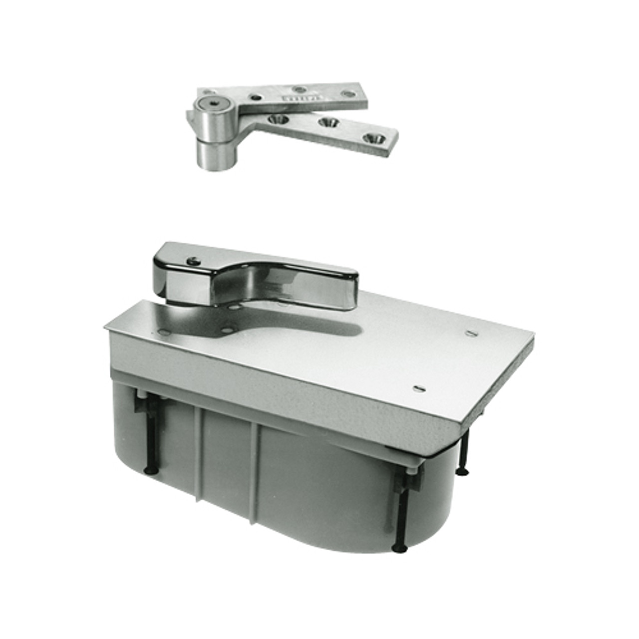 PHQ27-90S-LH-619 Rixson 27 Series Heavy Duty Quick Install Offset Hung Floor Closer in Satin Nickel Finish
