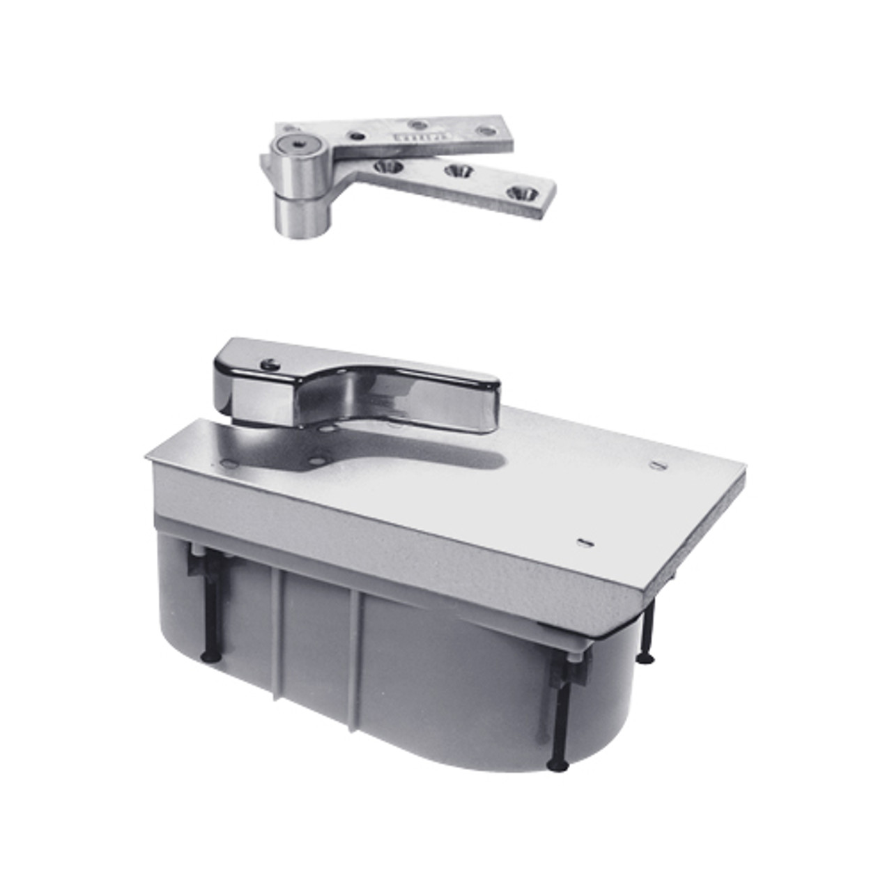 PHQ27-90S-RH-626 Rixson 27 Series Heavy Duty Quick Install Offset Hung Floor Closer in Satin Chrome Finish