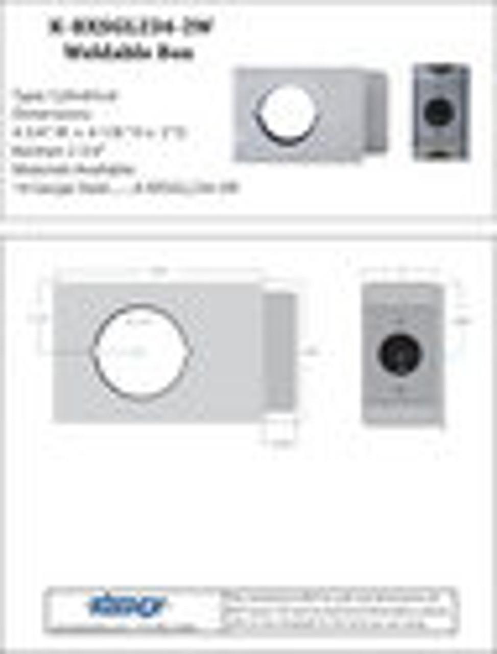 Keedex K-BXSGL234-2W Weldable Gate Box