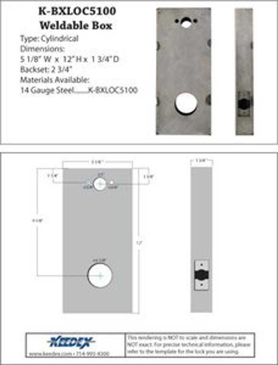 Keedex K-BXLOC5100 Weldable Box