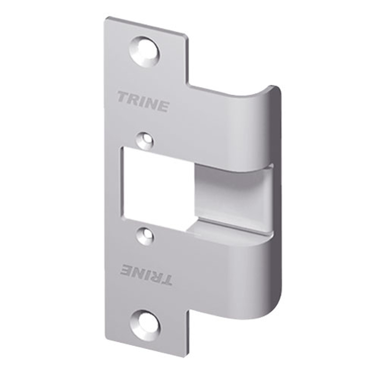 478X-375-RD-US32D Trine 3000 Series Asa Strike Extended Faceplate with Radiused Corners in Satin Stainless Steel Finish