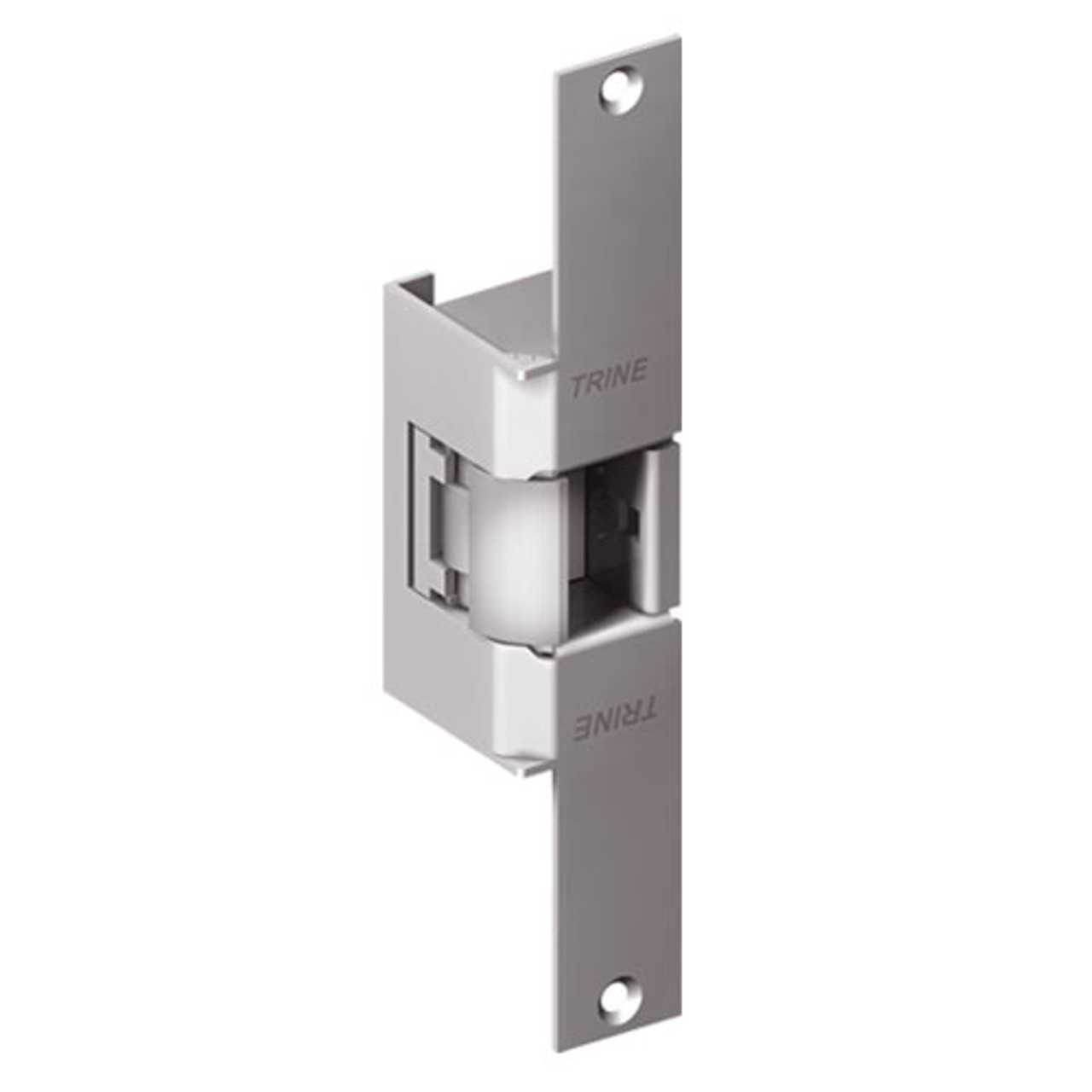 EN960-12DC-32D-LH Trine EN Series Indoor/Outdoor Fire rated Electric Strikes in Satin Stainless Steel Finish