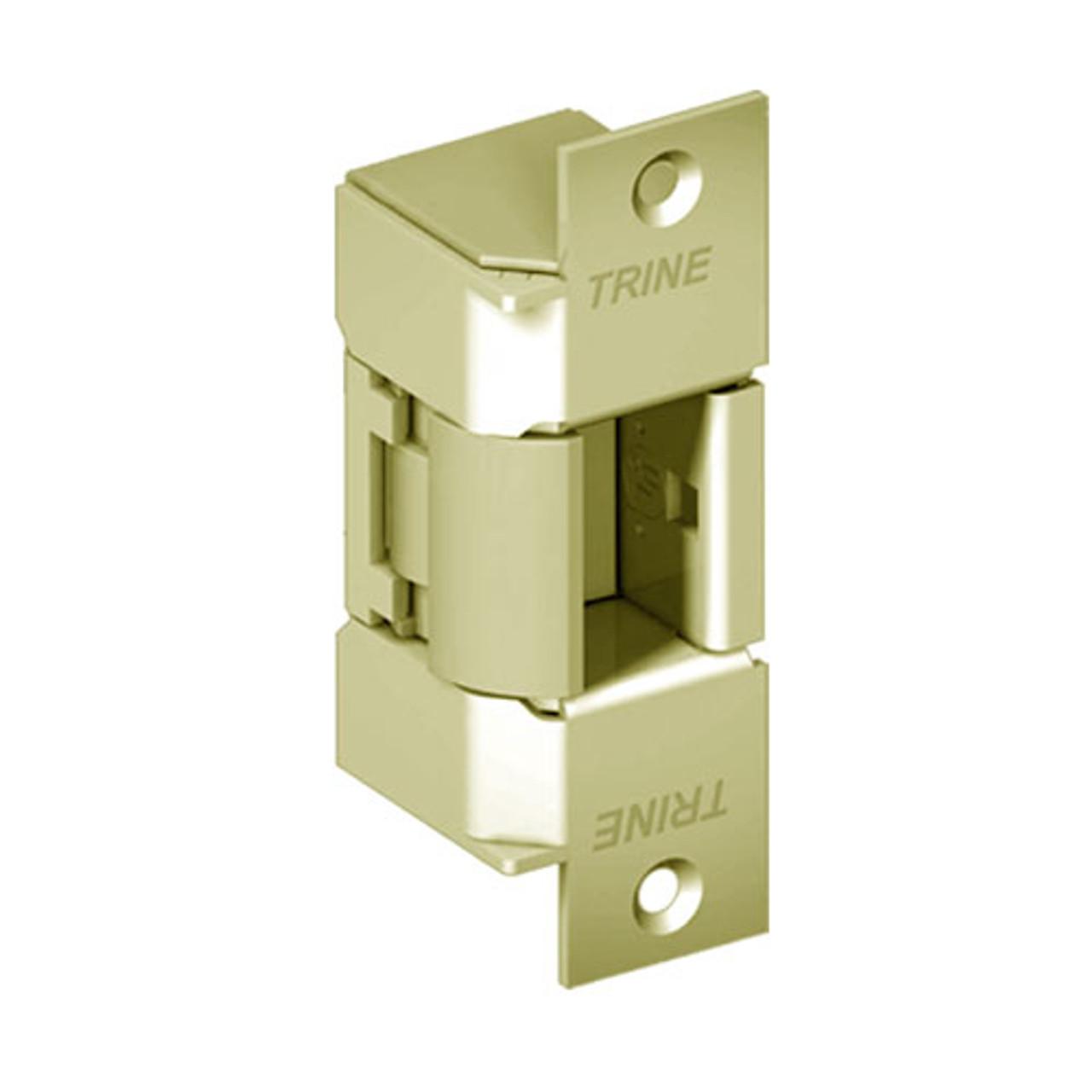 EN400-12DC-US4-LH Trine EN Series Outdoor Electric Strikes Solution in Satin Brass Finish