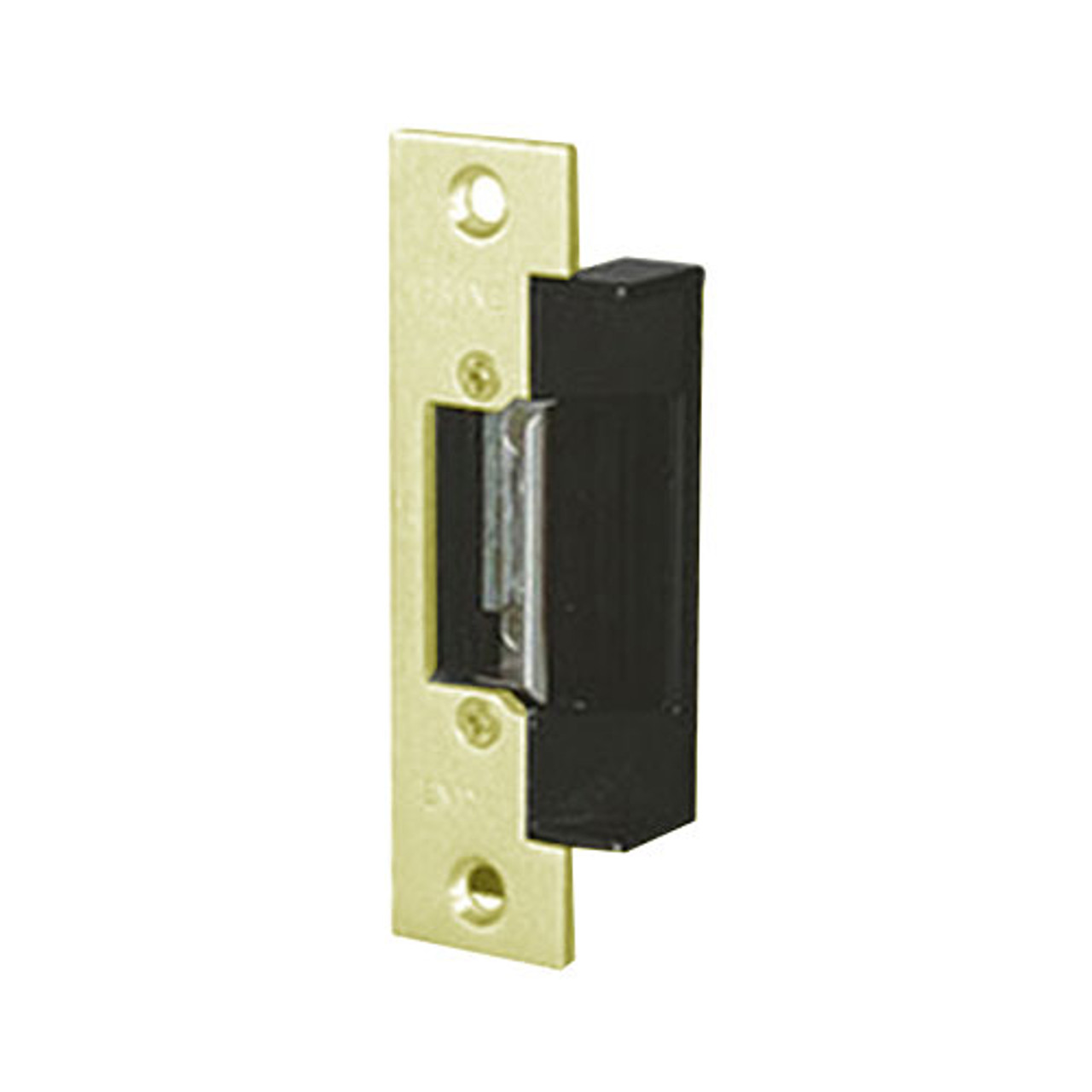 2012-24DC Trine Light Commercial Adjustable 2000 Series Electric Strikes in Brass Powder Finish
