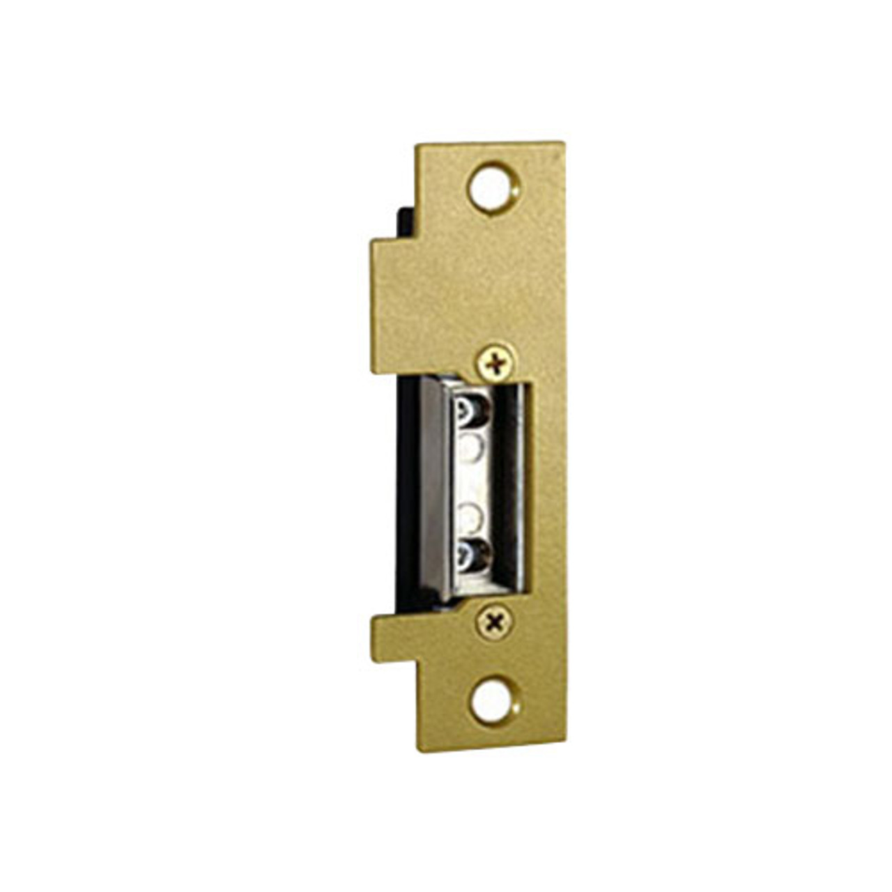 2009-16-24AC/DC Trine Light Commercial Adjustable 2000 Series Electric Strikes in Brass Powder Finish