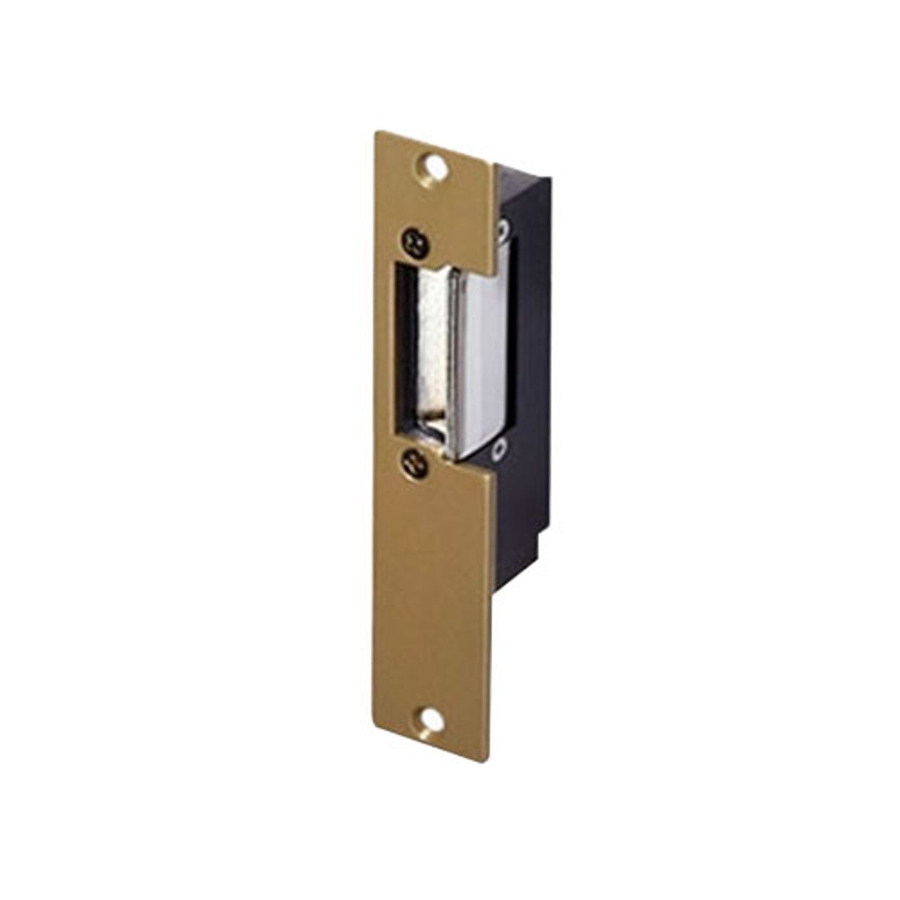 1001-2-14-24AC/DC Trine Light Commercial 1000 Series Electric Strike in Brass Powder Finish