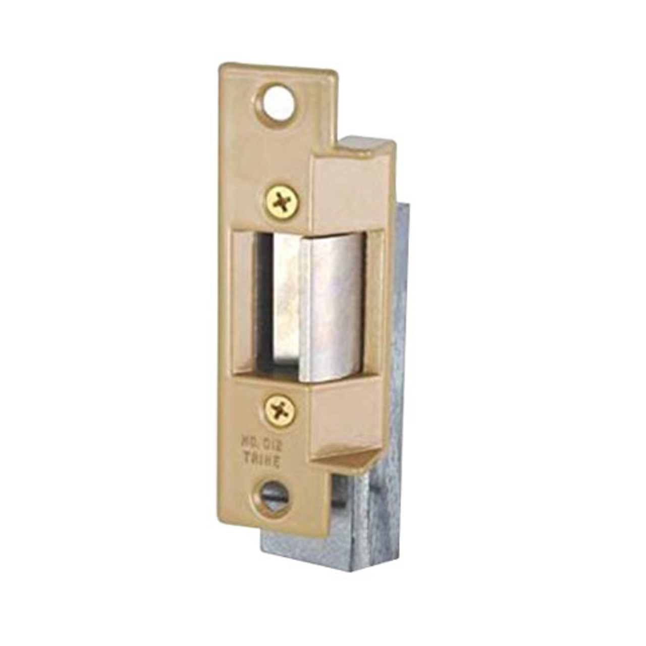 012-24DC Trine Light Commercial ANSI 01 Series Electric Strikes in Brass Powder Finish