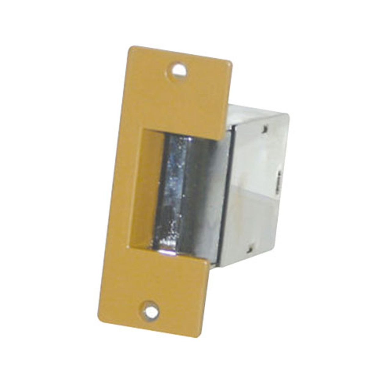 005-8-16AC/4-6DC Trine Light Commercial Electric Strikes in Brass Powder Finish