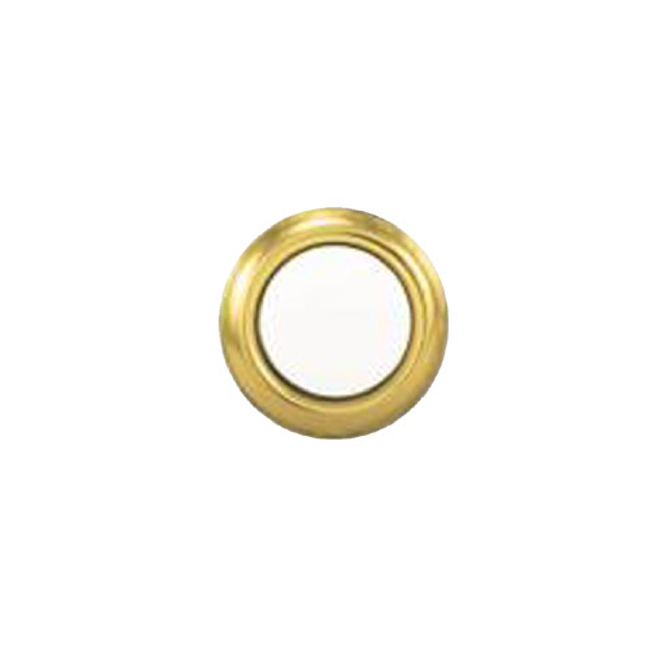 45G Trine Bell Button Gold Rim with Pearl Center