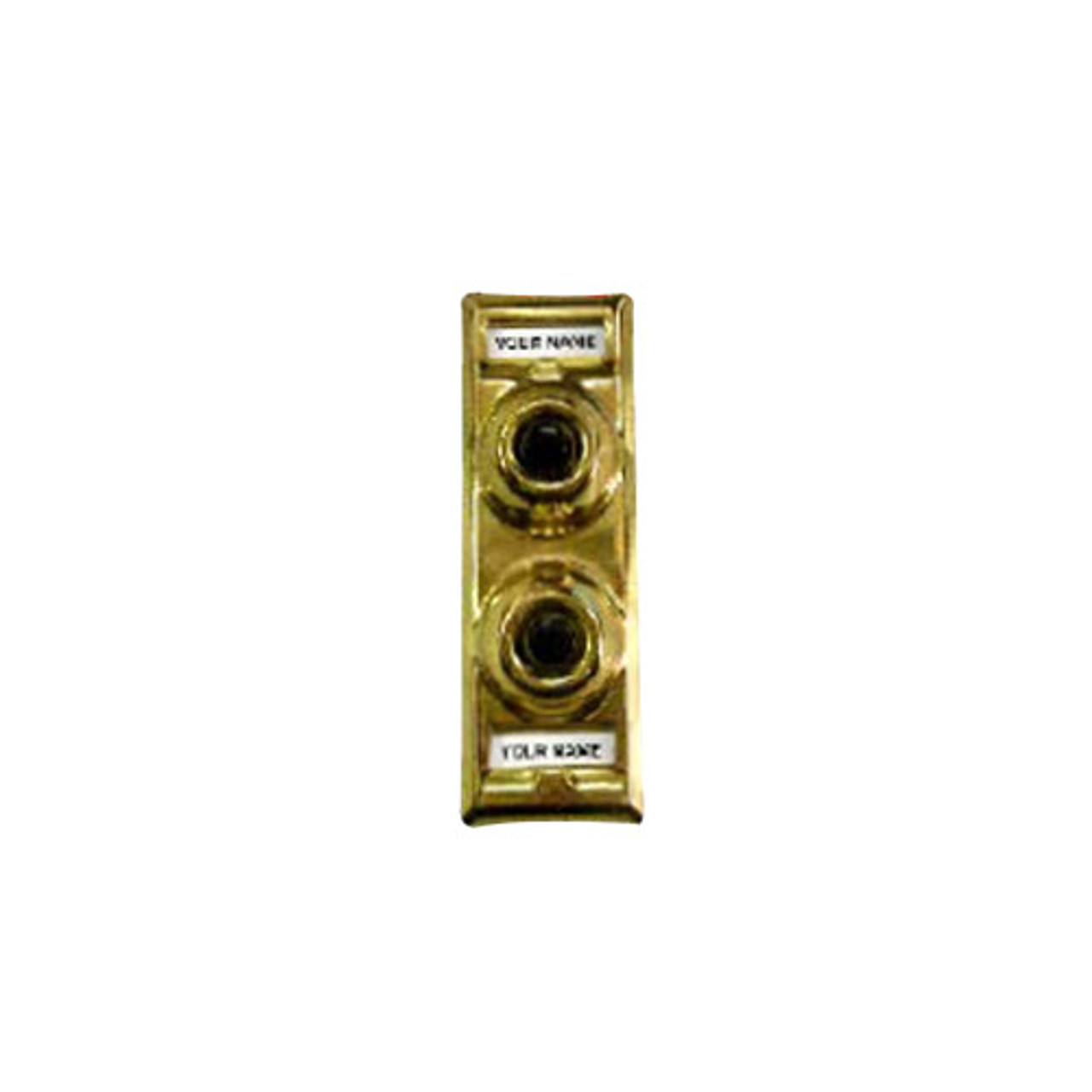 91P Trine Push Button Multi-Family in Polished Solid Brass Finish