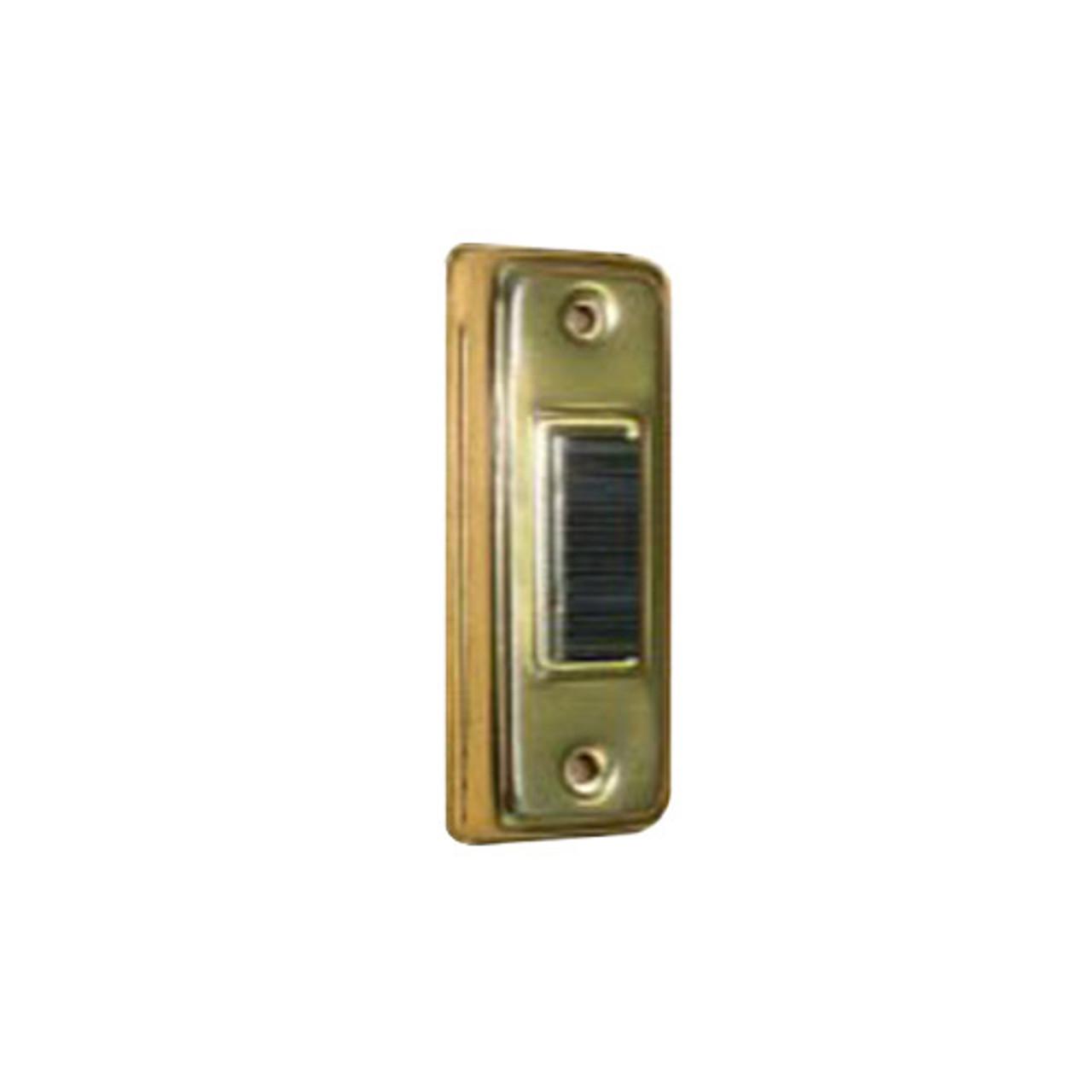 71G Trine Push Button Anodized Brass Aluminum Housing with Black Bar