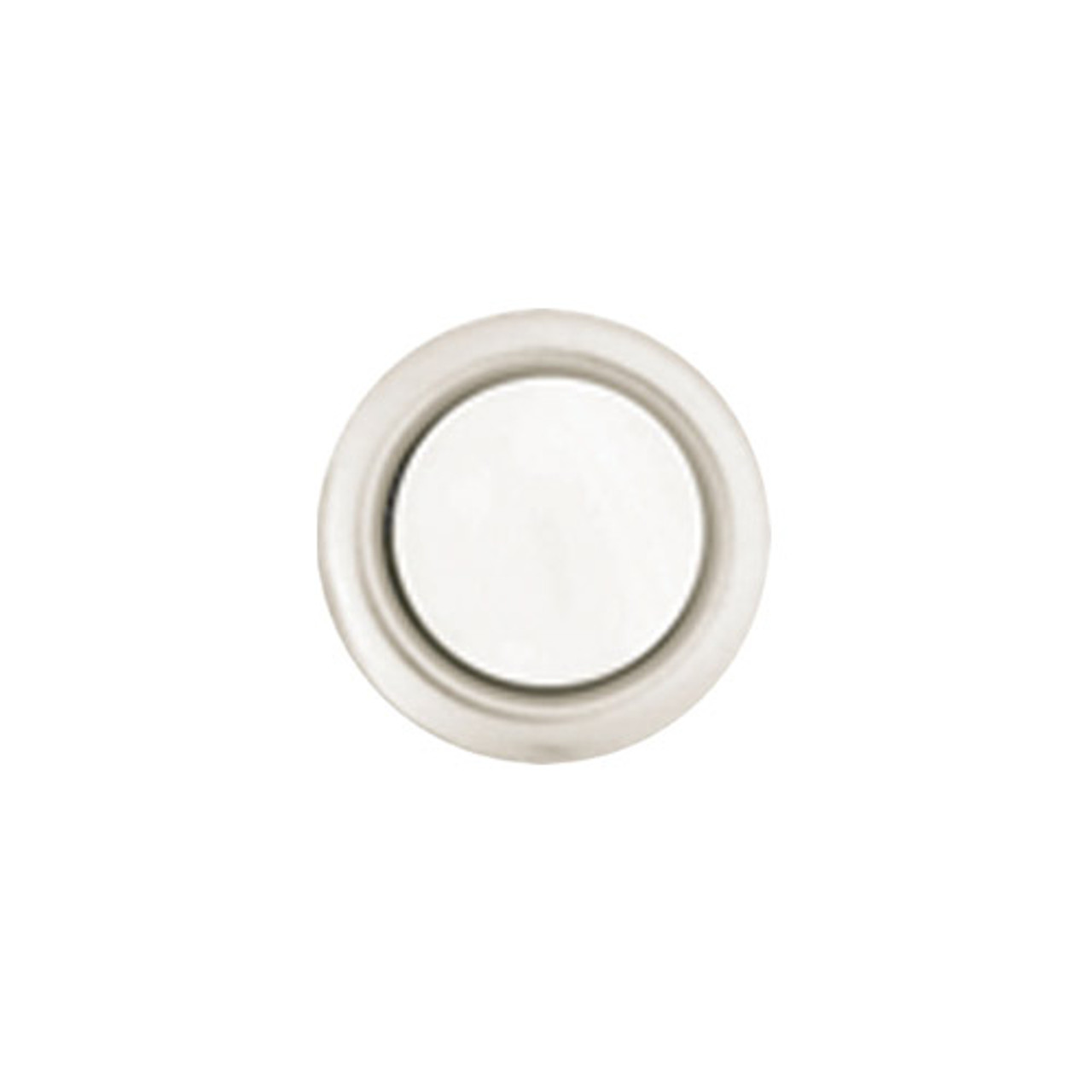 45A Trine Bell Button Silver Rim with Pearl Center