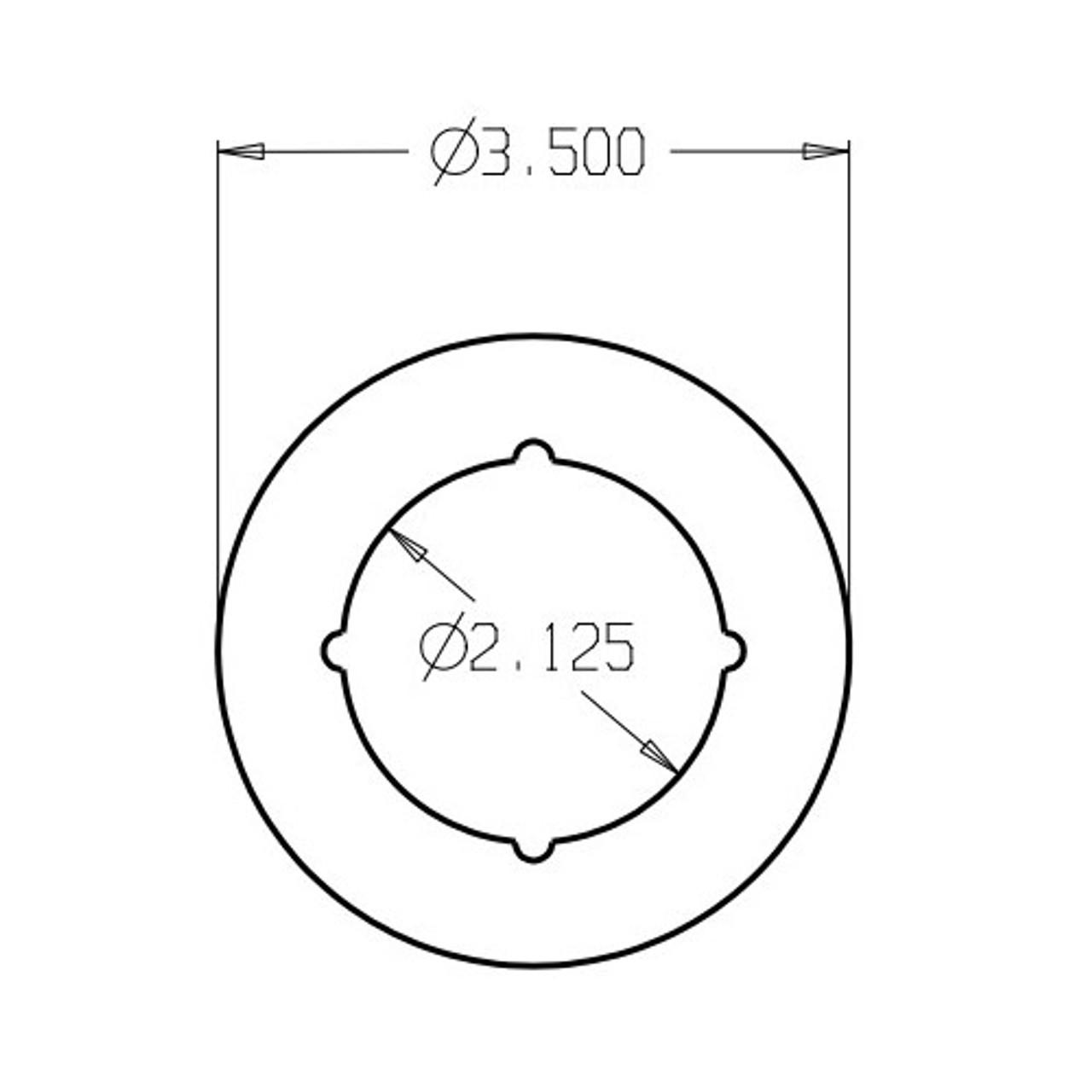 SP-135-630 Don Jo Scar Plate Dimensional View