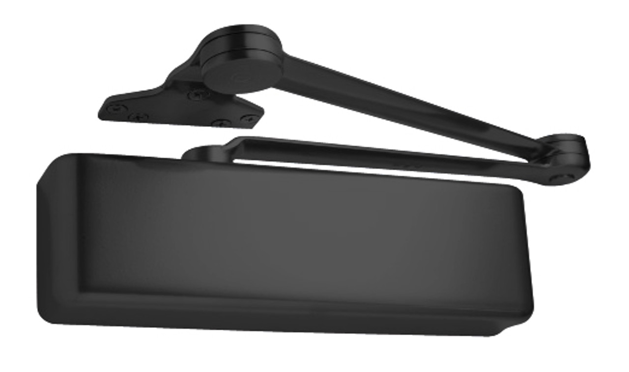 4040XP-SCUSH-BLACK LCN Door Closer with Spring Cush Arm in Black Finish